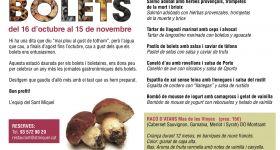 Racó d'Atans a Les Jornades del Bolet del Sant Miquel Restaurant