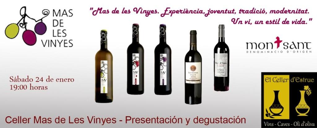 Degustación y Presentación Vinos Mas de les Vinyes en Celler d'Estruc Barcelona